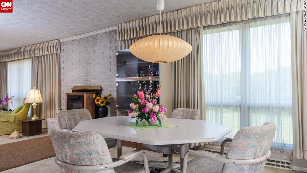 """The interior of the house -- especially the furniture -- is reminiscent of the television show """"Mad Men,"""" which is set in the 1960s."""