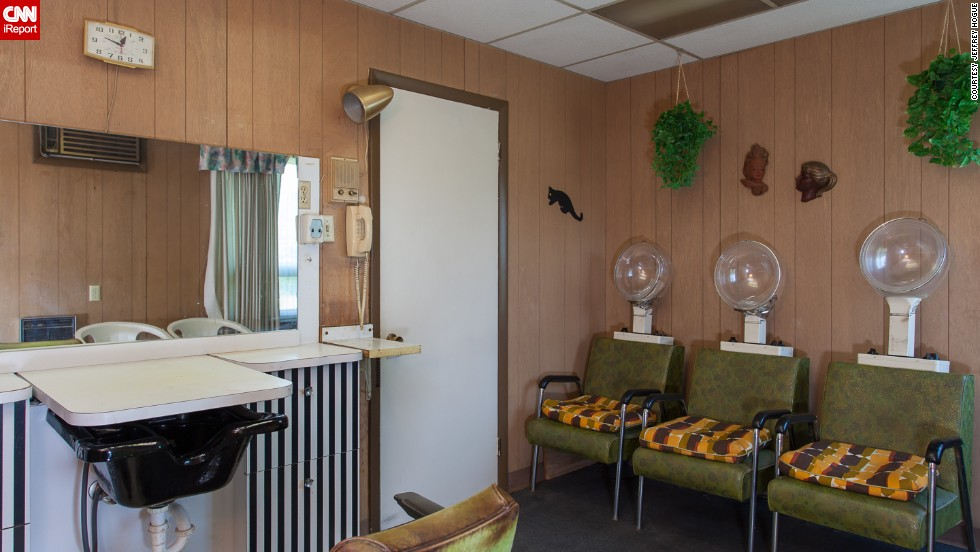 A onetime beauty salon, which was run by the original owner, can be found in the house.