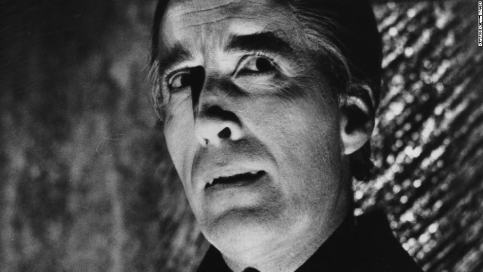 "It's safe to say Christopher Lee got a kick out of playing vampires. The actor played Dracula multiple times during his 68 years in the business. Here, he's seen in 1968's ""Dracula Has Risen From the Grave,"" but he first played the undead legend in 1958's ""Horror of Dracula."""