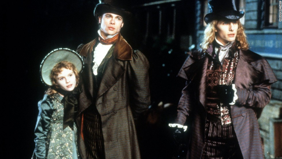 "No one masters the ""scary but hot"" element of vampirism quite like Anne Rice. In 1994, the film adaptation of  her novel ""Interview with the Vampire"" was as seductive as it was frightening. Pictured here with a pre-teen Kirsten Dunst, who played the child vamp Claudia, Brad Pitt (center) was Louis and Tom Cruise portrayed the infamous Lestat."