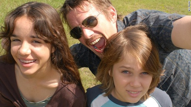 "(From left) Lorelei Linklater, Ethan Hawke and Ellar Coltrane star in Richard Linklater's ""Boyhood."""