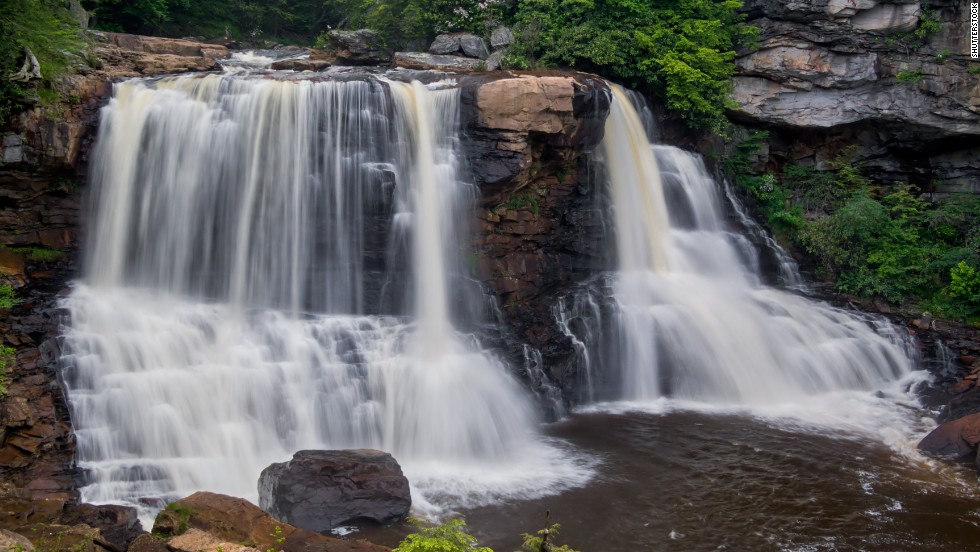 At Blackwater Falls in West Virginia, watch the amber-colored water take the five-story plunge into the river below and get a look at one of the state's most photographed spots.