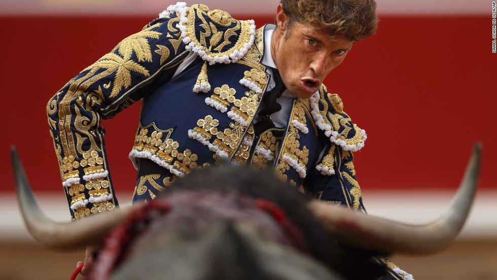 Bullfighter Manuel Escribano performs on July 13.