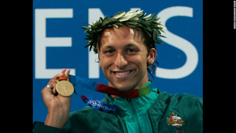 Swimmer Ian Thorpe, seen here in 2004 with one of his five Olympic gold medals, told an Australian news outlet that he is gay in an interview that aired on Sunday, July 13. Click through to see other openly gay athletes.