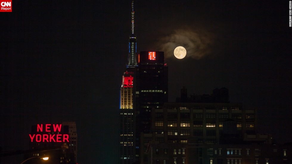 "2014's summer of supermoons kicked off on July 12. Mike Chiodo, who also goes by the photography name <a href=""http://ireport.cnn.com/docs/DOC-1152464"">Mikiodo</a>, was one of many who stayed up late to photograph July's supermoon. ""Living in New York City, I am always craving some nature; I don't get enough. So I often look to the evening and nighttime skies to get my fix,"" he said."