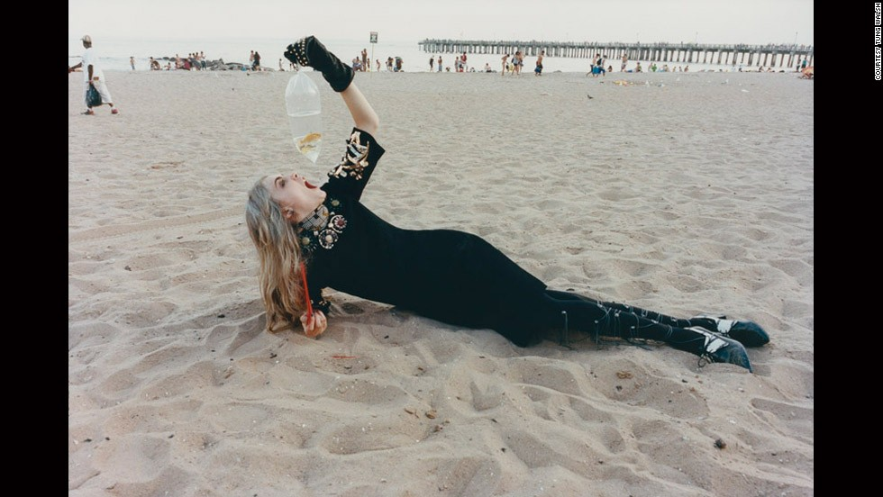 """""""CARA CONEY ISLAND WITH GOLDFISH,"""" TUNG WALSH (2012)<br /><br /><strong>CNN: Are the photographers in this show the next stars of fashion photography? Could they be the next Mario Testino or Juergen Teller?</strong><br /><br /><strong>MK</strong>: These photographers all have incredible vision. In selecting them I'm saying I believe they all have stellar futures. I am identifying them as fashion photographers with creative vision that could make them the next group of establishment fashion photographers, like Mario Testino or Nick Knight. <br /><br />Even though we are defining them as the next generation of emerging talents ... in fashion photography, and most creative mediums, to get to this level when you can be pegged as an emerging practitioner with something to say takes around five years."""