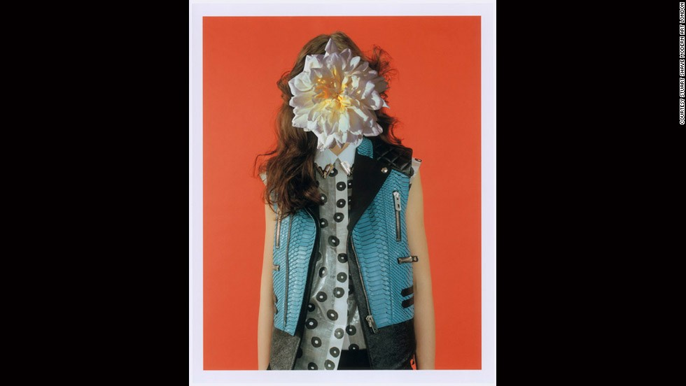 """VALERIJA WITH FLOWER OVER WHOLE FACE,"" MEL BLES COLLABORATION WITH LINDER STERLING FOR <em>POP</em> MAGAZINE (2011)<br /><br /><strong>MK</strong>: There are some photographers working digitally like <a href=""http://danielsannwald.com/"" target=""_blank"">Daniel Sannwald</a> and <a href=""http://www.melbles.com/"" target=""_blank"">Mel Bles</a> (and they) ... both ... use digital technology and retouching in a sophisticated way where images are juxtaposed ... with hi-and-low-fi put together.<br />"