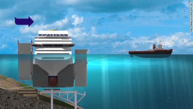 Costa Concordia wreckage afloat again
