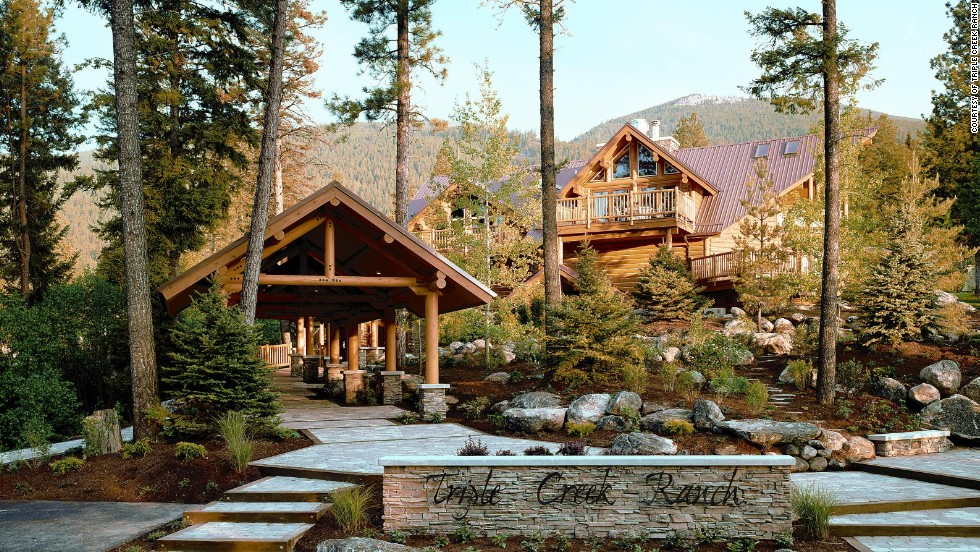 The Triple Creek Ranch in Montana was voted the world's top hotel by Travel + Leisure readers. The luxurious mountain retreat offers activities to suit a variety of tastes, from scenic hikes, wildlife spotting, wine tastings, cattle drives and helicopter tours above Glacier or Yellowstone National Parks.