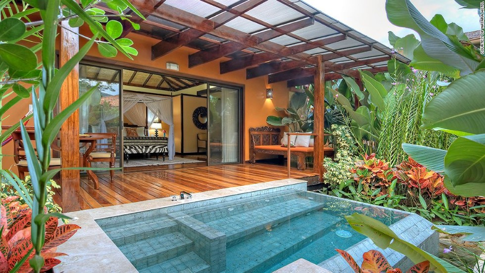 Costa Rica's Nayara Springs came in second place. Each of the 16 villas has its own plunge pool.