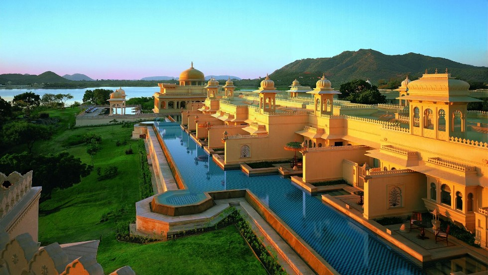 India's Oberoi Udaivilas took ninth place with its nine premier rooms featuring a private pool and terrace.