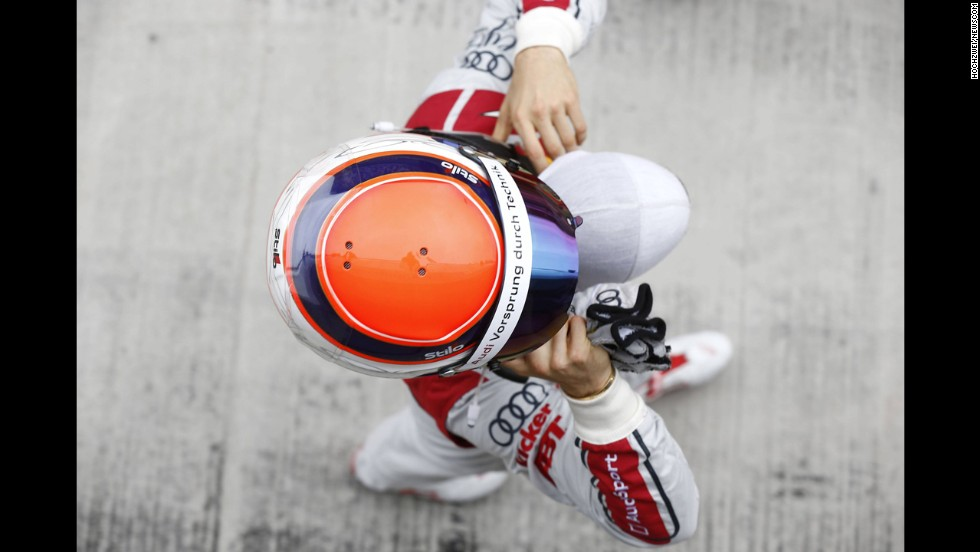 Touring car driver Edoardo Mortara is seen Saturday, July 12, at Moscow Raceway in Volokolamsk, Russia.