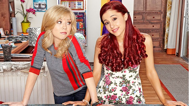 "Jennette McCurdy and  Ariana Grande star in Nickelodeon ""Sam & Cat."""