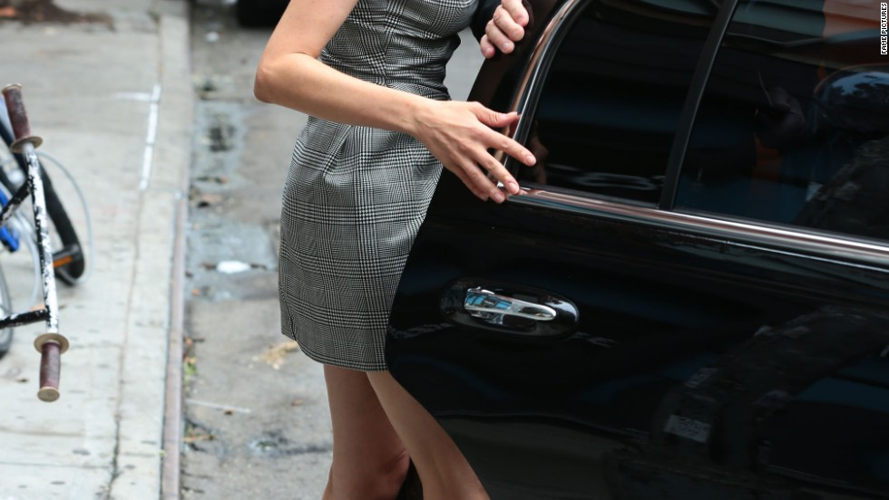 Diane Kruger catches a ride in New York City on July 10.