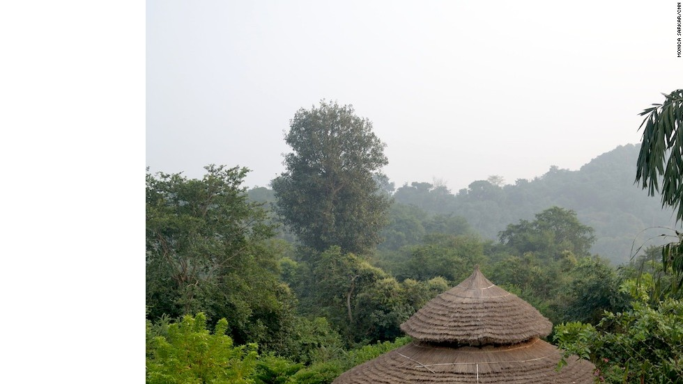 Located in a garden full of orange, mango and papaya trees, each of Basunti's 10 residential rooms offer a view of the yoga shala (pictured).