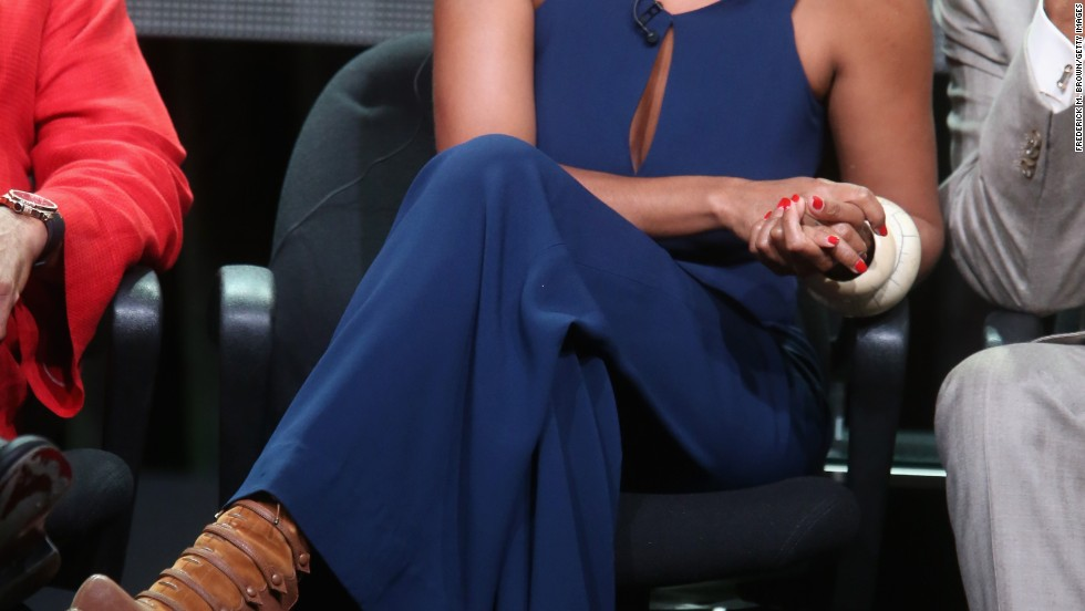 "Tracee Ellis Ross glows at the July 15 TCAs panel for her new ABC show, ""Black-ish."""