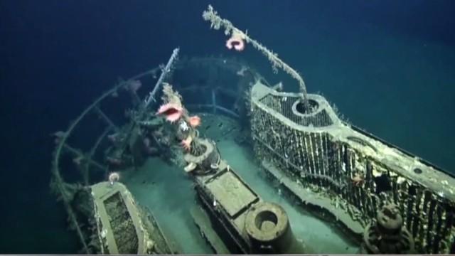 Underwater cameras caputure WWII shipwrecks