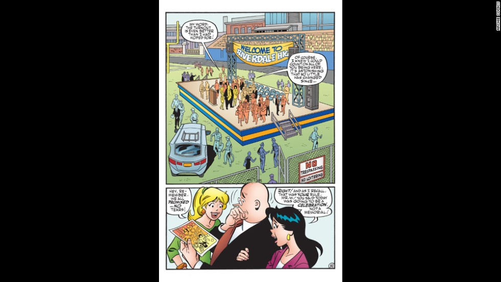<strong>Exclusive photo: </strong>As Riverdale prepares to remember Archie, Mr. Weatherbee gets all choked up.