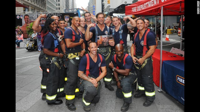 Thirteen FDNY firefighters are featured in the 2015 Calendar of Heroes.