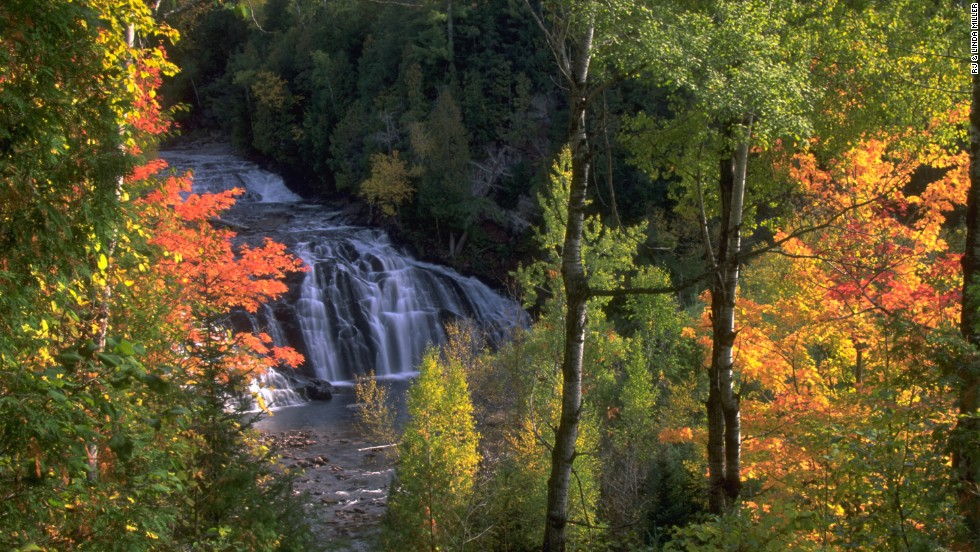 Potato River Falls in Gurney, Wisconsin, has been called one of the most beautiful falls in the region.
