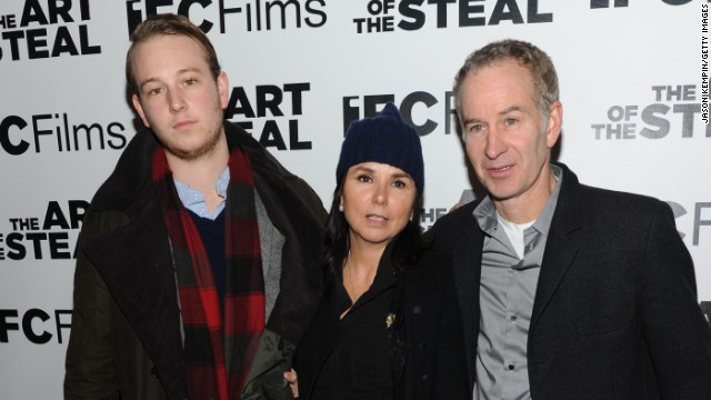 Kevin McEnroe, Patti Smyth and John McEnroe attend a premiere in February 2010 in New York City.