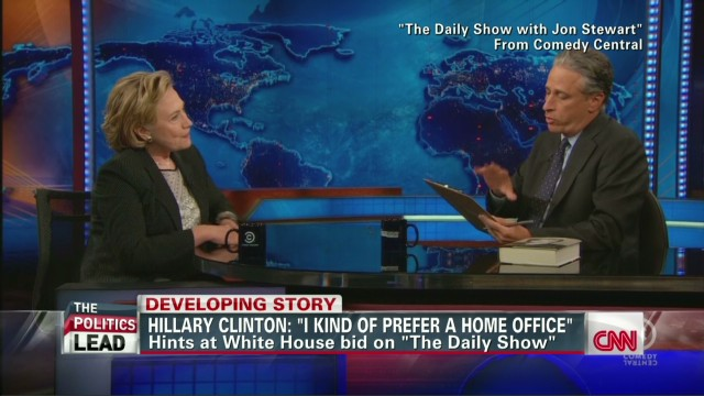 Hillary hints at 2016 on 'Daily Show'