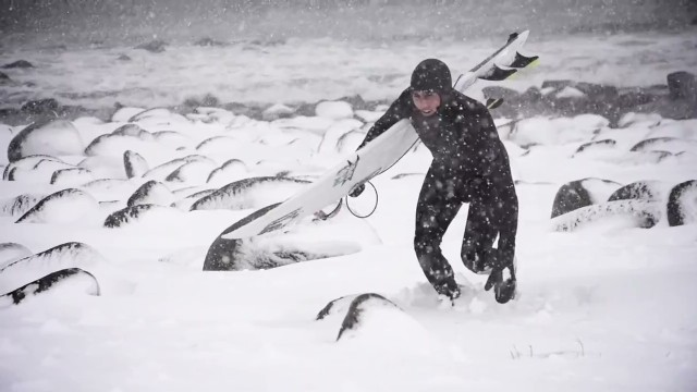 Finding the perfect Arctic surf shot