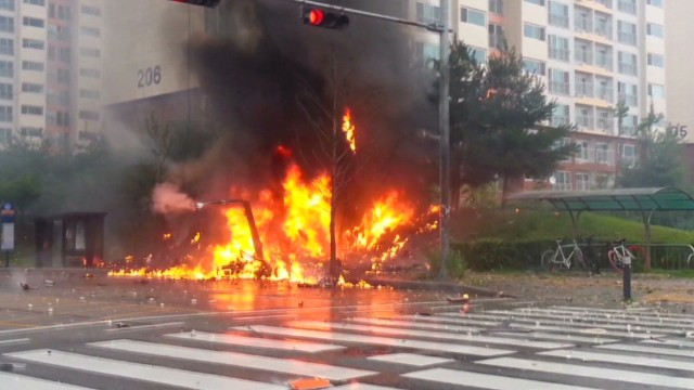 Helicopter crashes in South Korean city