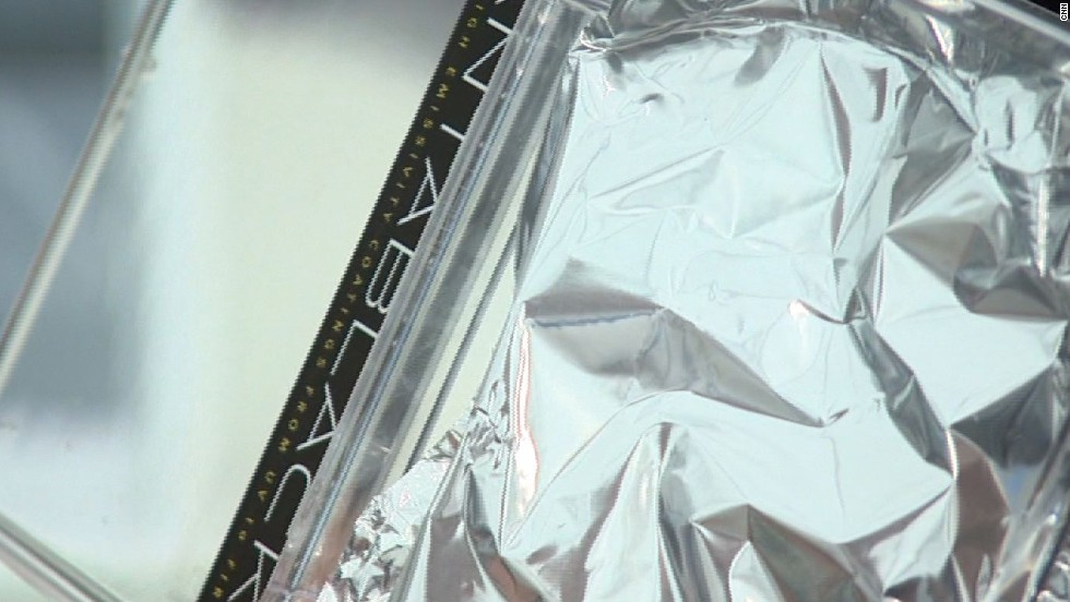 Creases and bumps on this aluminium foil are easily picked up by the human eye.