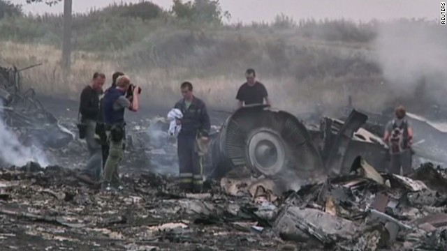 Charred debris of MH17 found