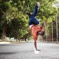 Humans of Khartoum man breakdancing