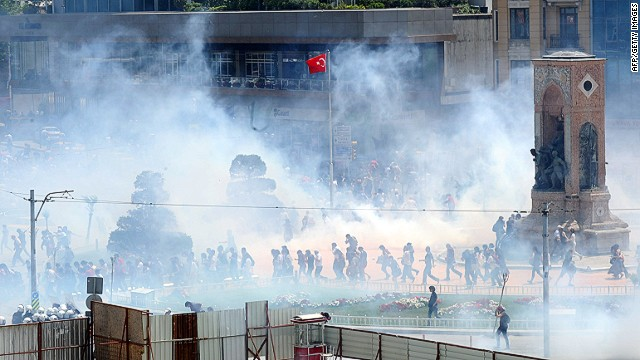 Protests in Istanbul in May 2013.