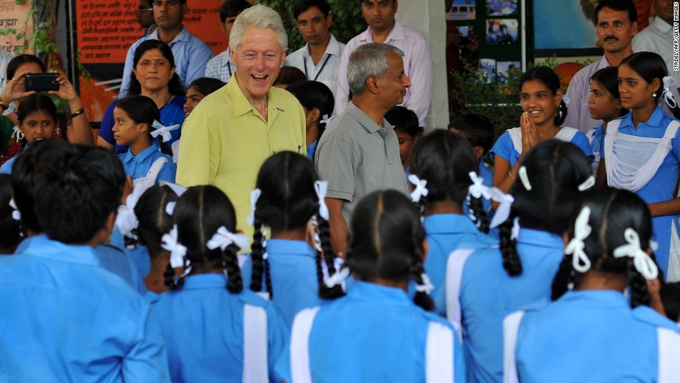"On Wednesday, July 16, President Bill Clinton visited Jaipur, India, as the first stop on his eight-day trip touring Clinton Foundation-supported projects in Southeast Asia. CNN's Anna Coren interviewed Clinton during subsequent stops for a segment that first aired during ""New Day"" on Monday, July 21."