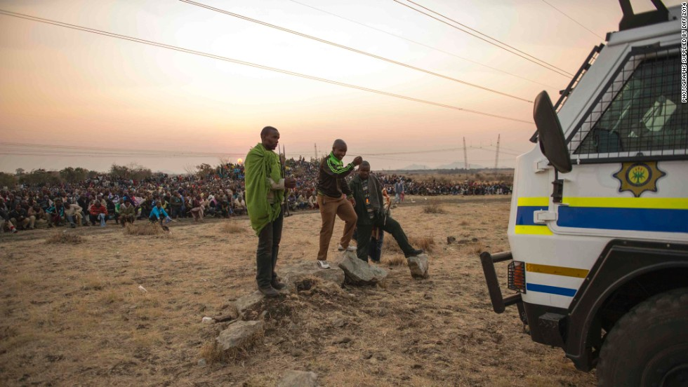 "South African filmmaker Rehad Desai presents the 85-minute documentary ""Miners Shot Down,"" which follows the August 2012 Marikana miners' strike."