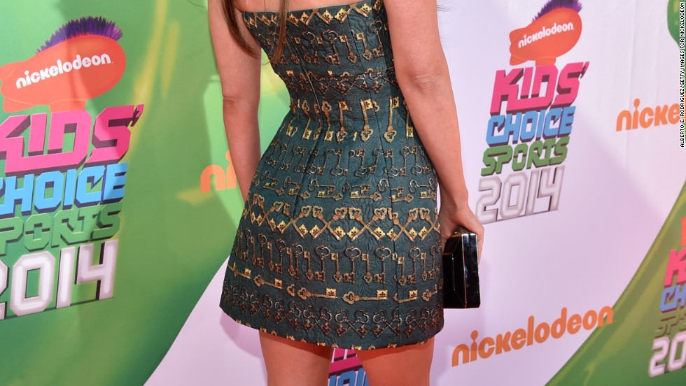 Megan Fox shows off her ink at Nickelodeon's Kids' Choice Sports Awards on July 17.
