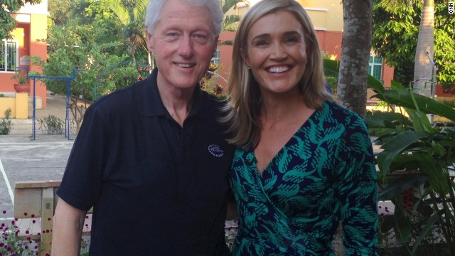 Former Pres. Bill Clinton and CNN's Anna Coren in Vietnam.