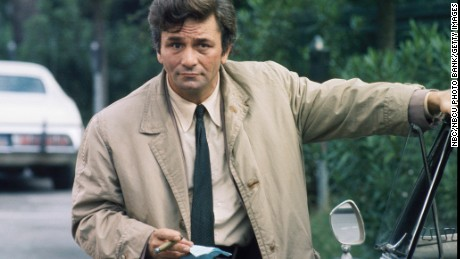 """COLUMBO -- """"By Dawn's Early Light"""" Episode 3 -- Aired 10/27/74 Pictured: Peter Falk as Lt. Columbo  (Photo by NBC/NBCU Photo Bank/Getty Images)"""