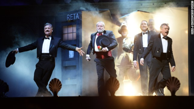 Monty Python emerges for a last show at London's O2 Arena.
