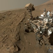 curiosity 1 year on mars selfie