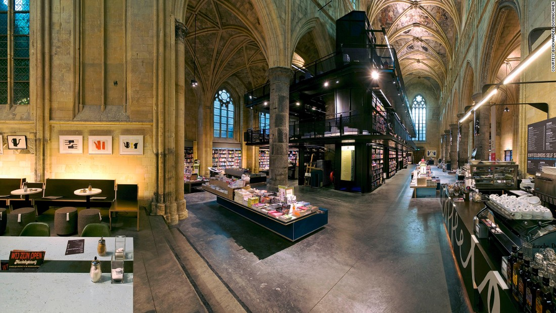 This 800-year-old former Dominican church in Maastricht, Netherlands, was converted into a bookstore in 2006. Boekhandel Dominicanen hosts 140 literary events a year.