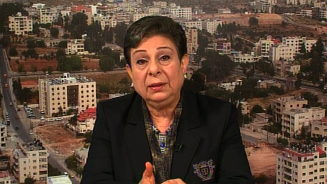 Ashrawi: 'End Israel's violence'