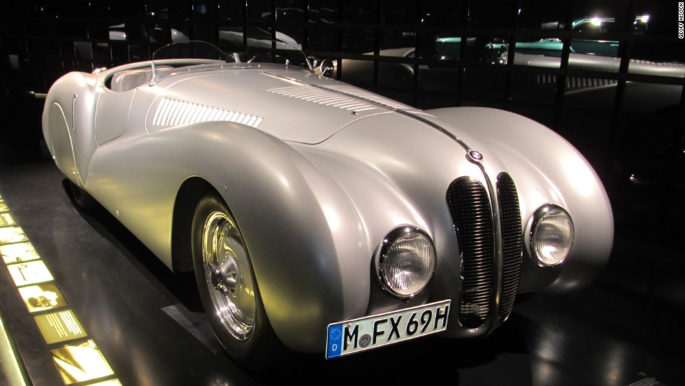 "Known as the ""Legendary Roadster,"" the 328 was made in several versions by BMW during the 1930s. This model is on display at BMW World in Munich."