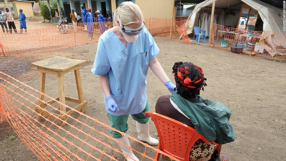 Symptoms of Ebola hemorrhagic fever typically include: weakness, fever, aches, diarrhea, vomiting and stomach pain. Additional experiences include rash, red eyes, chest pain, throat soreness, difficulty breathing or swallowing, and bleeding.