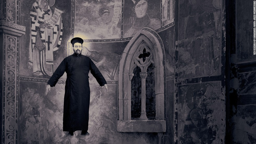 "These photos were actually part of a trip Fontcuberta took to ""expose"" a Finnish monastery that practices the impossible."
