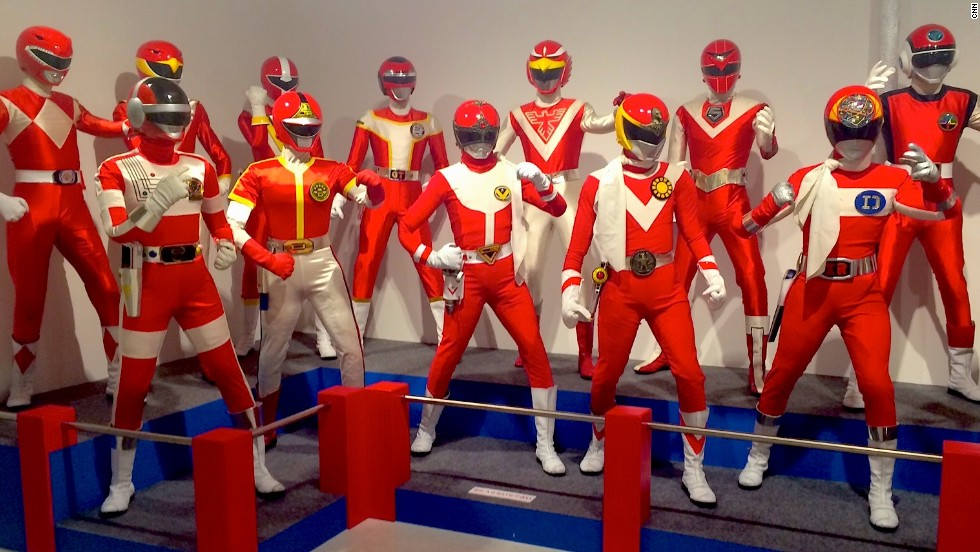 "A fearsome group of Super Sentai in the Toei Kyoto Studio Park Anime Museum. The U.S. TV series ""Power Rangers"" was based on Japan's ""Super Sentai"" show."