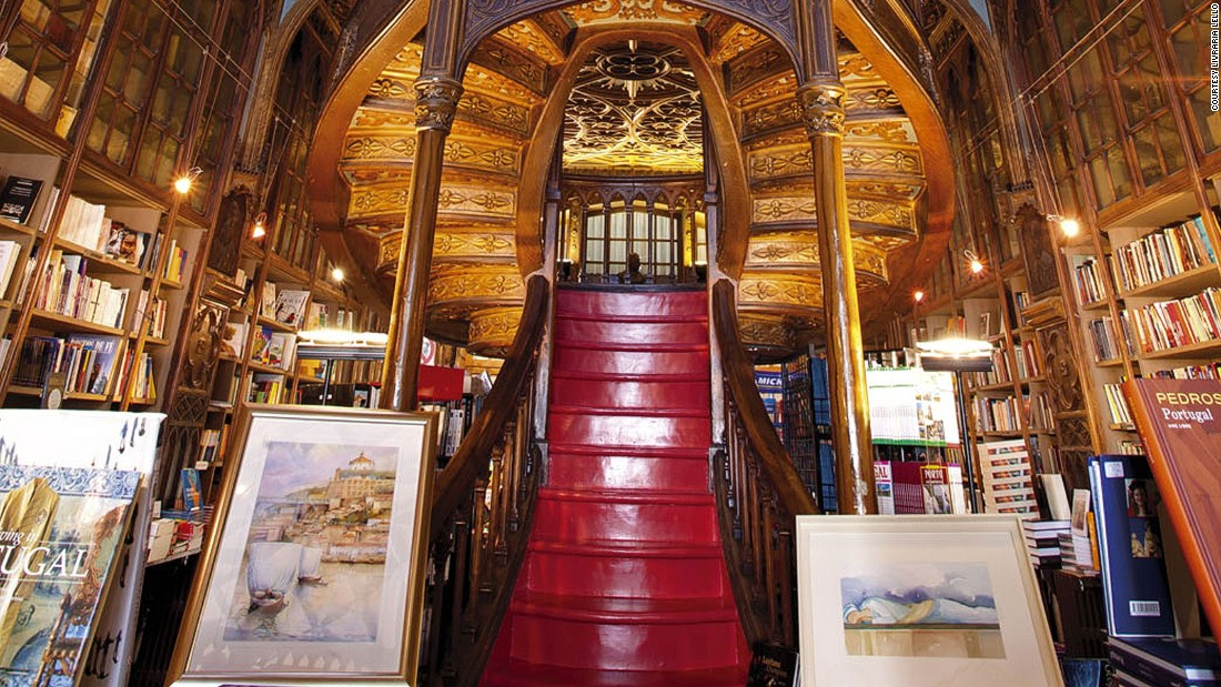 Built in 1906 and originally designed as a bookstore, the Livraria Lello in Porto, Portugal, features neo-Gothic architectural flair. It's become so popular with tourists, in July 2015 the store started charging entrance fees.