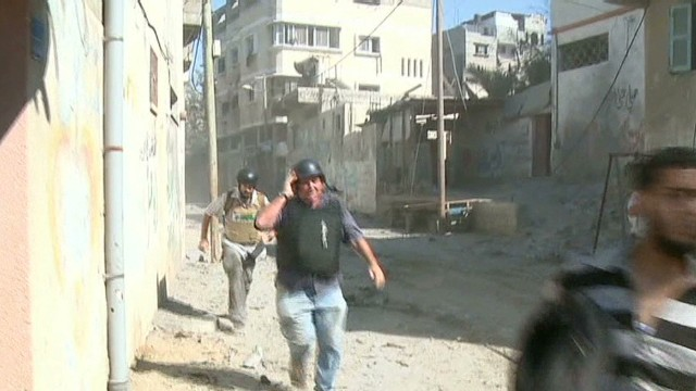 CNN crew turned back by gunfire in Gaza