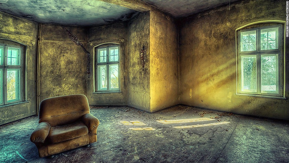 Occasionally Makowska's images feature abandoned objects -- such as an old armchair --  that give them a poignant, human touch.