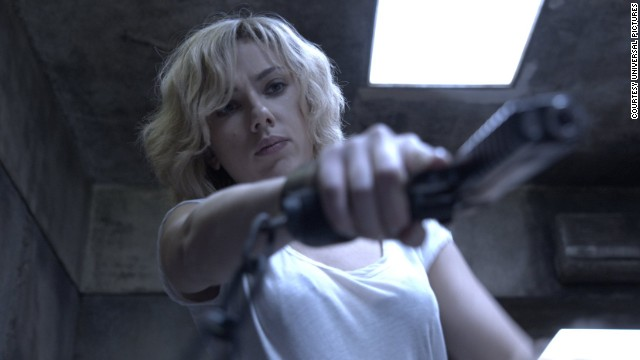 "Scarlett Johansson stars in the fast-paced action film ""Lucy."""