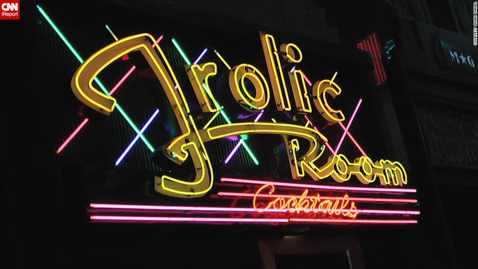 "<a href=""http://ireport.cnn.com/docs/DOC-1150966"">The Frolic Room</a> is one of the last great ""dive bars"" in Los Angeles, Daniel said. The joint evokes a lot of nostalgia because he's been there so many times. ""It represents the old Hollywood of yesteryear,"" he said."